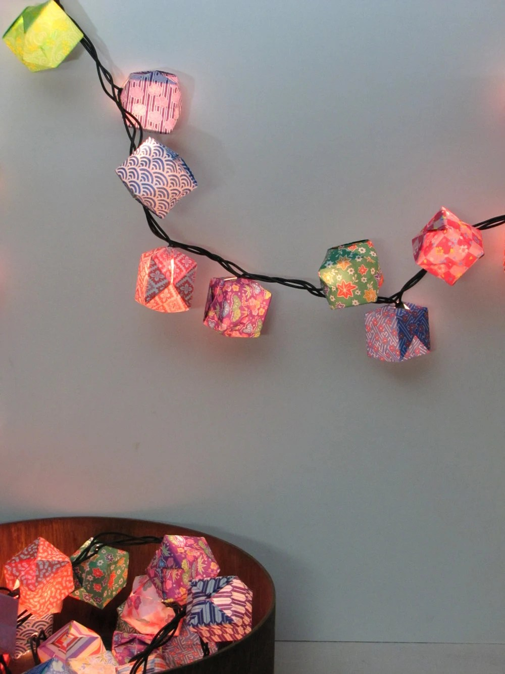 Holiday Lanterns - Origami Paper Lanterns - Set of 25 - Assorted Patterns