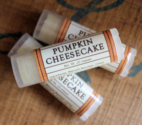 Pumpkin Cheesecake Lip Balm - One Tube Beeswax Shea Cocoa Butter Jojoba - LongWinterSoapCo