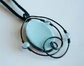 Black and Blue Spiral Necklace - mlwdesigns