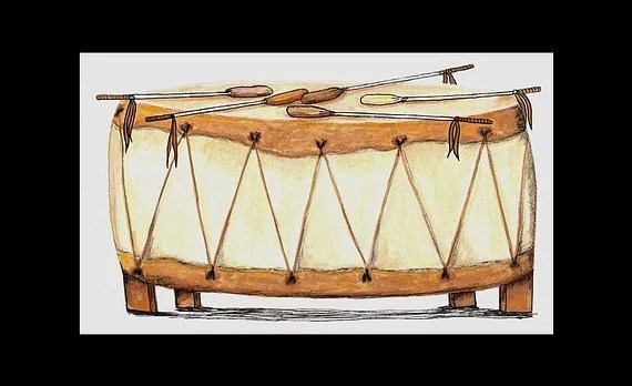 Pow Wow Drum (6x9 original)
