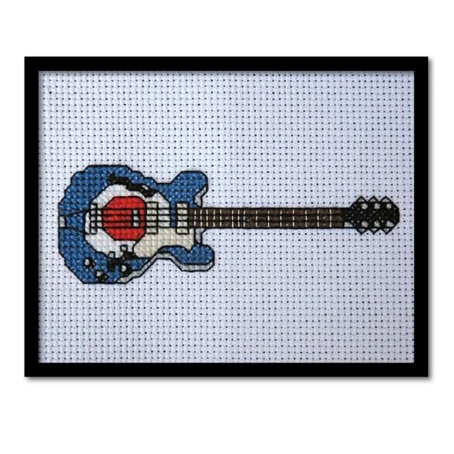 mod guitar   Tiny Modernist Cross Stitch Blog