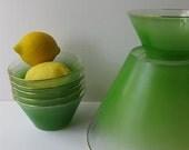 Fresh Lime West Virginia Glass Blendo Snack/Salad Set Seven - jenscloset