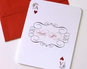 Stella Coordinating Playing Card Thank you cards (20 Pack) - EmbellishedPaperie
