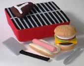 Felt Food Pattern - Backyard BBQ Play Set PDF Pattern Hot Dog, Hamburger, Steak, Grill and Accessories - GulfCoastCottagePDF