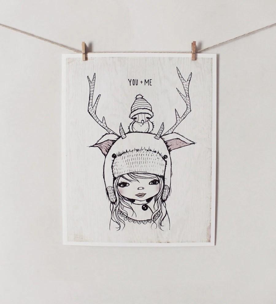 """YOU & ME - 8"""" X 10"""" print"""