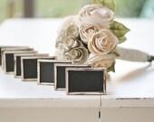 Rustic Wedding Chalkboard Signs SET of 12 - braggingbags