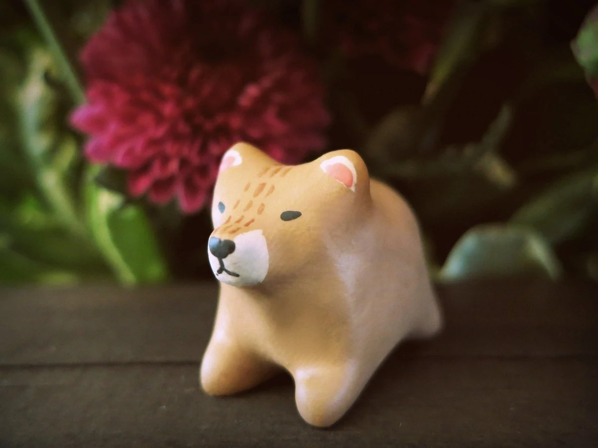 Bear pocket totem figurine