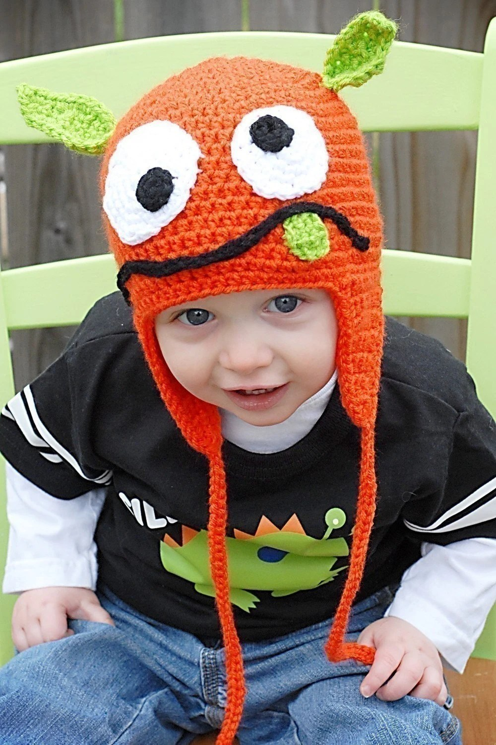 Silly Monster Earflap Hat Crochet Pattern (Permission to sell all finished products)