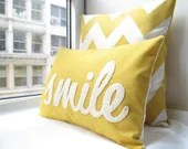 Smile Pillow in Yellow - HoneyPieDesign