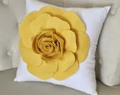 Mellow Yellow Rose on White Pillow - bedbuggs