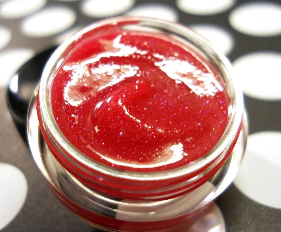 Watermelon Shimmer Gloss - Lip Gloss - Natural Minerals With Sparks and Reflects - ForGoodnessGrape