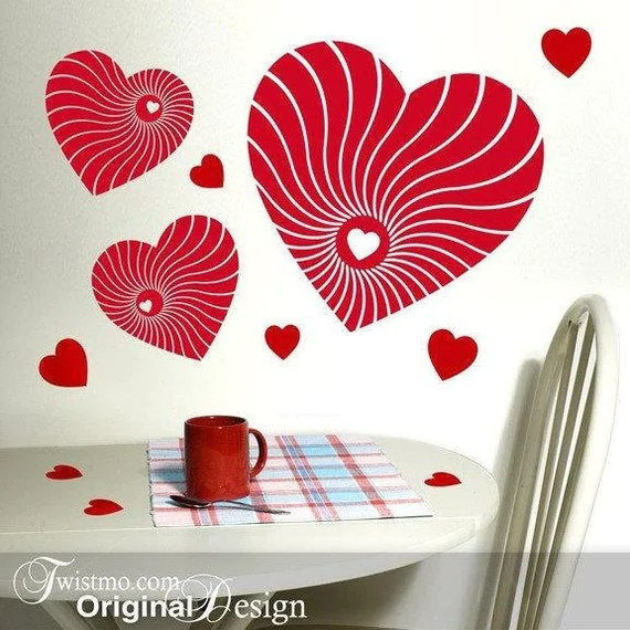 Red hearts on Etsy