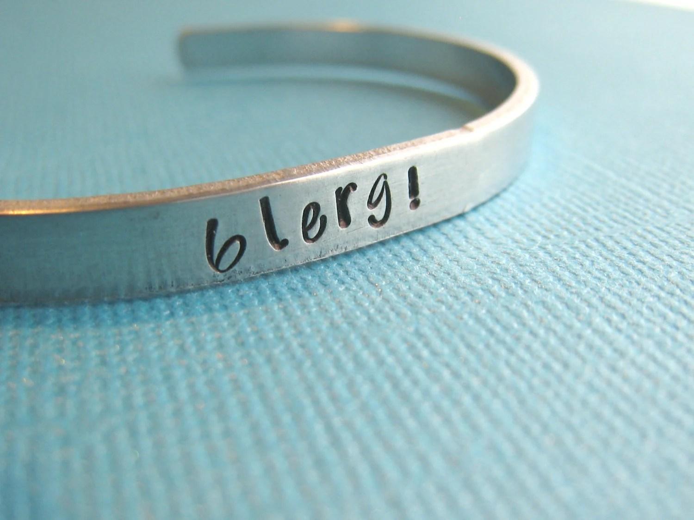 Blerg 30 Rock Liz Lemon Bracelet Hand Stamped by CandidGrace