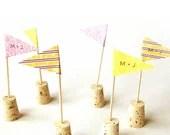 CUSTOM Wedding Flag Cupcake Toppers - Set of 40 - Custom patterns & colors - RisaRocksIt