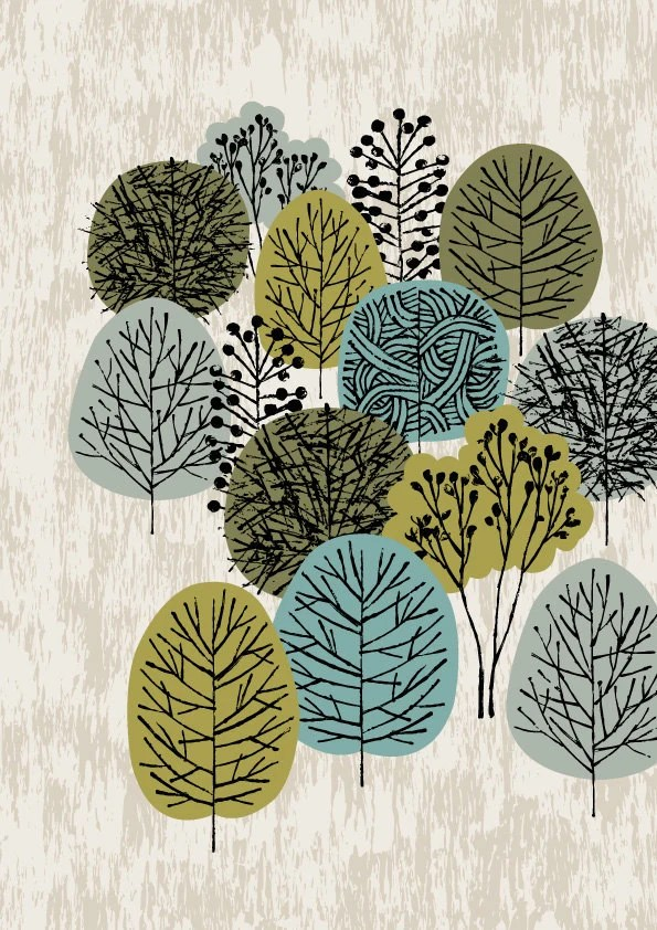 Little Woodland, limited edition giclee print - EloiseRenouf