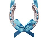 bright blue lucky wedding horseshoe - AtelierRousseau