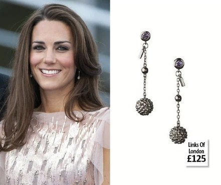 Kate Middleton the Duchess of Cambridge- Links of London Earrings