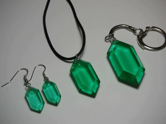 Legend of Zelda - Rupee Jewelry Set - Blue