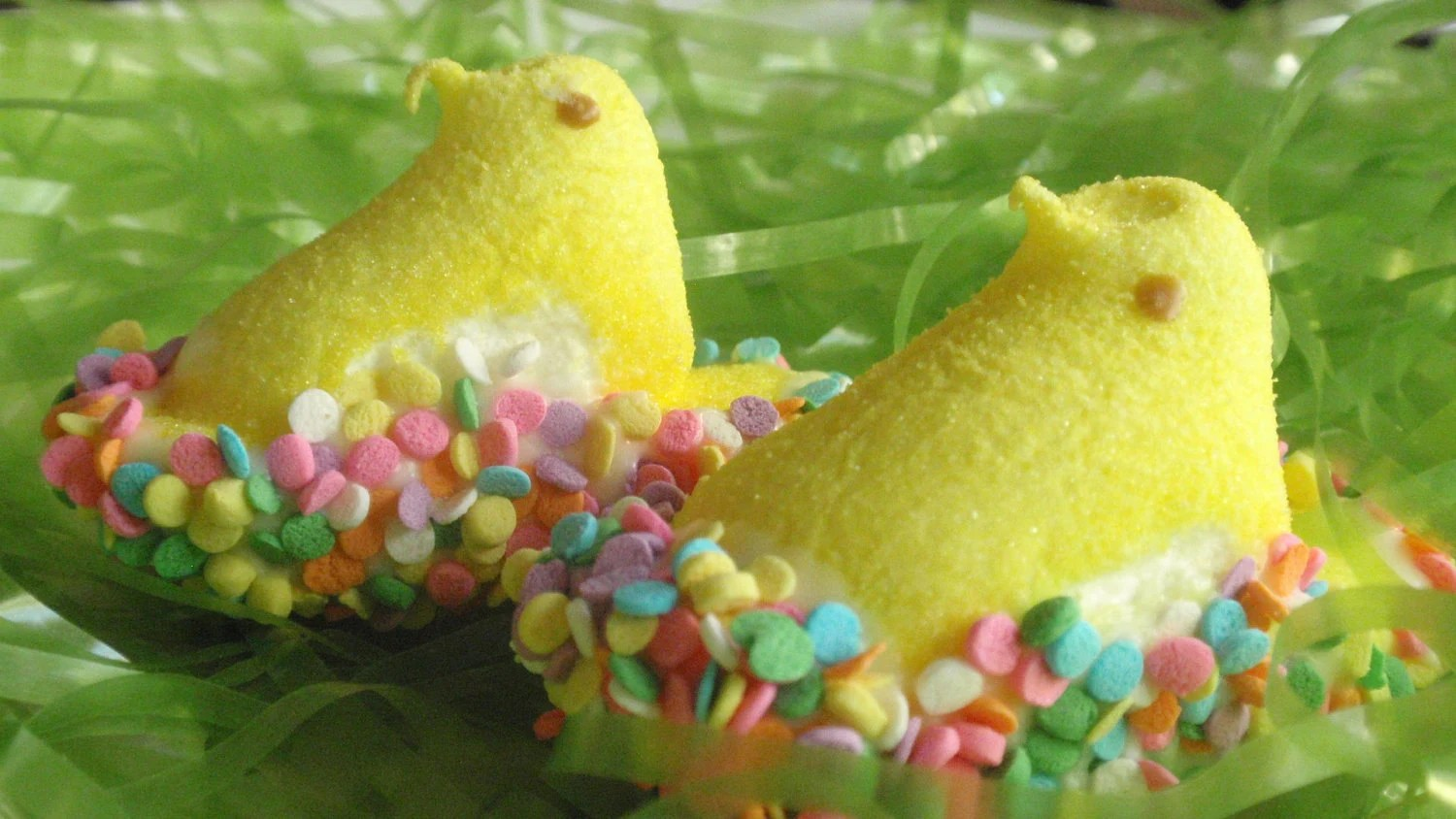 Easter Candy -  Chocolate Dipped Sugar Coated Marshmallow Peeps - BakeAllTheThings