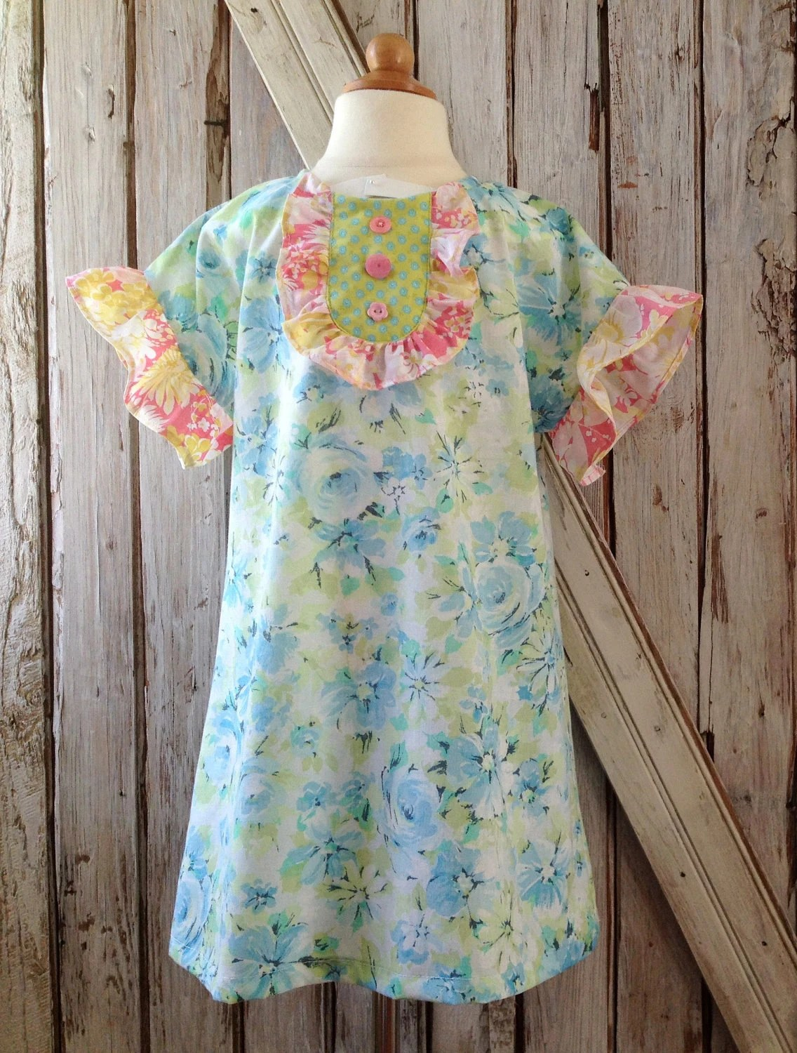 Peggy Sue - Ruffle Dress and Top Pattern - Girl's Sewing Pattern. Toddler Dress Pattern. Sizes 2 -10