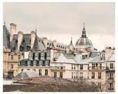 Paris Photography art, Grey Rooftops photo - architecture art, Paris Art Print, french living room decor - grey beige large wall art - RivuletPhotography