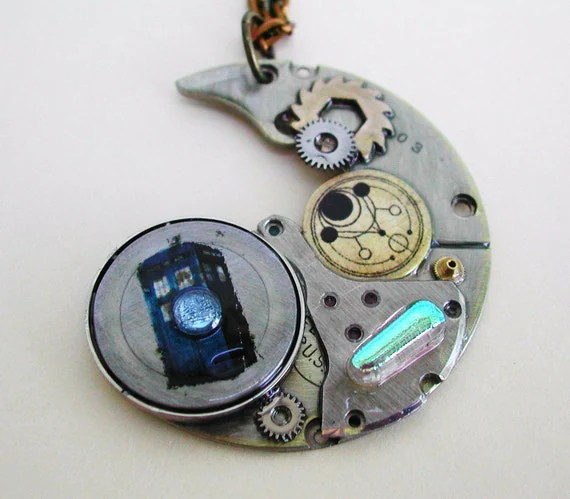 """""""The Silver Devastation"""" Doctor Who Steampunk Necklace"""