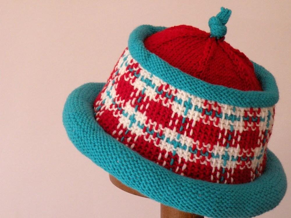 Hand Knit Woven Chapeau - ArzuMusaKnitting