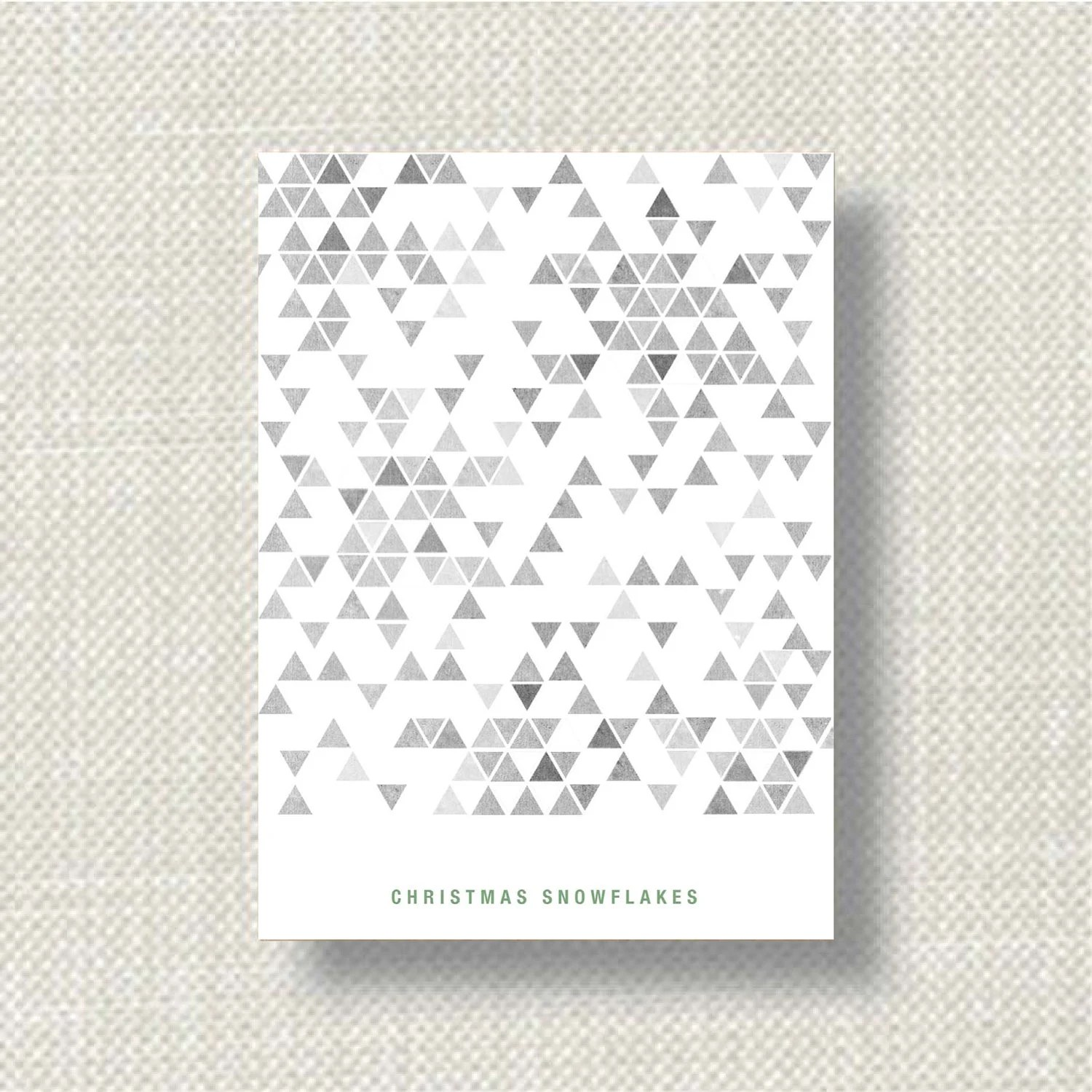 Christmas card. White card. Snowflakes. - madebythecoopers
