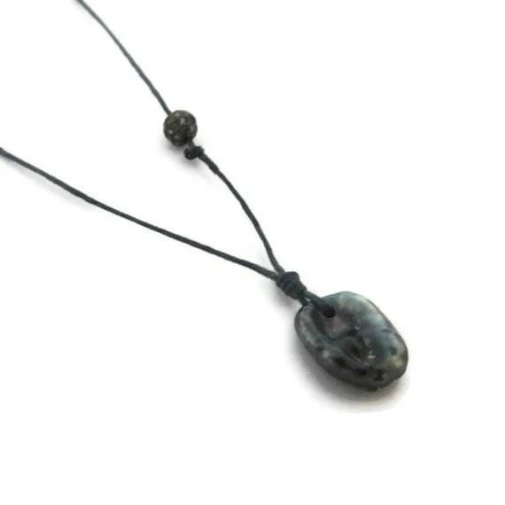 Black Tahitian Pearl Necklace, Pave Diamond Necklace, Keshi Pearl Pendant - sheriberyl
