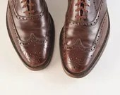 1950's Nettleton Men's Brown Wingtip Shoes - missfarfalla