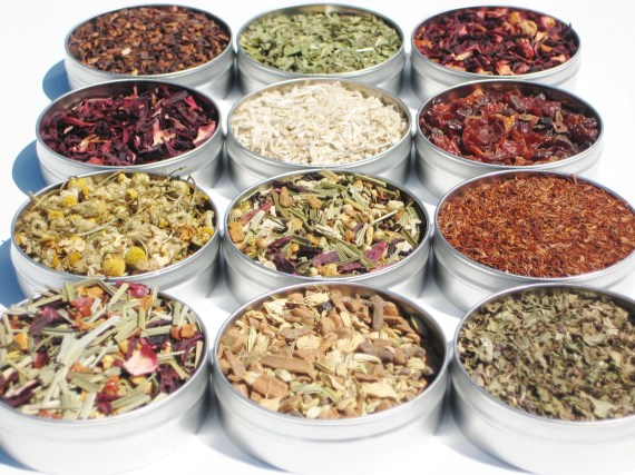 Organic Herbal Tea Kit - 12 loose teas in 61mm tins & recipes included - DIY tea kit - hostess gift / gift for her / tea enthusiast - CraigsMarket