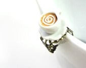 Swirling Coffee with Creme Ring - Glamour365