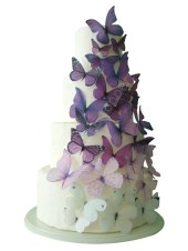 CAKE TOPPER - 40 Ombre Edible Butterflies in Purple - Wedding Cake, Cake Decorations, Cake Supply - incrEDIBLEtoppers