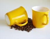 Corning Yellow Mugs - Set of 2