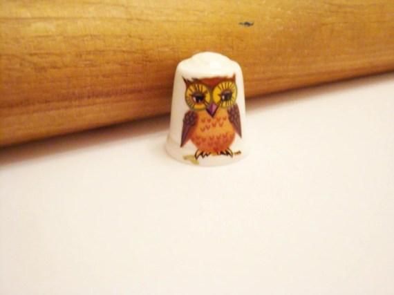 Cute Vintage Owl Thimble - RaisinFoot