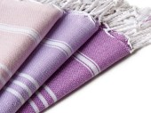 Set of 3 - Tea Towel Pestemal, All Purples - Orientina