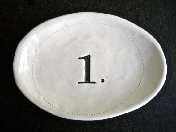 Number one bowl by Rae Dunn