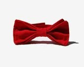 Chic Red Bow Tie - morion