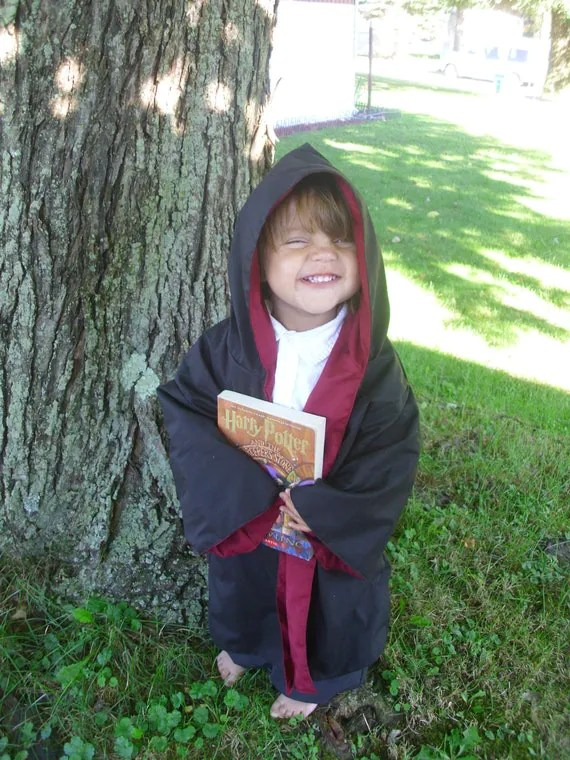 Harry Potter Gryffindor 12 mo 18Mo 2T 3T Robe Ready to SHIP - toeFishy