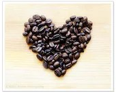 Coffee Bean Heart Photo, Kitchen Wall Art, Love Print, 8x10 Photograph, Coffee Lover, Romantic - RobinBarrettPhoto