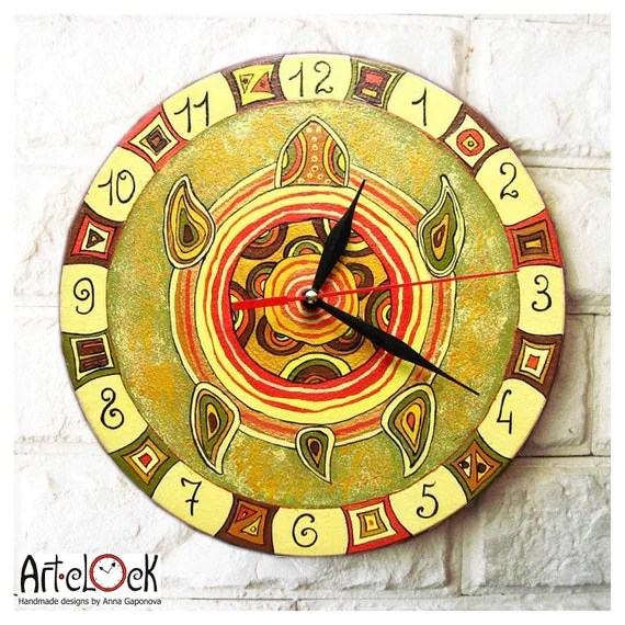The Yellow Turtle Wall Clock - ArtClock