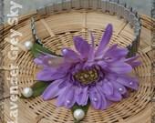 Lavender Headband, Wedding Headband, Floral Headband, Prom Accessory, Bridesmaid Hair, Hair Accessory