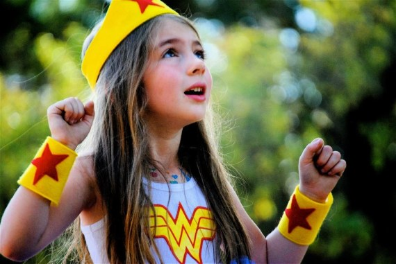 Wonder Woman Cuffs: Dress Up / Halloween - MarlisCurlyQBowtique