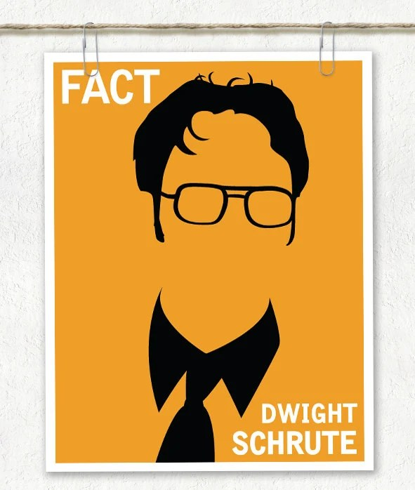 "Dwight Schrute Art Print / Poster ""Fact"""