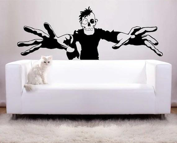 Huge Zombie Halloween Decoration Vinyl Wall Decal Photo Backdrop
