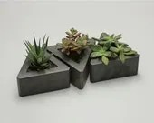 Triangle Concrete Pot - set of 3 - roughfusion