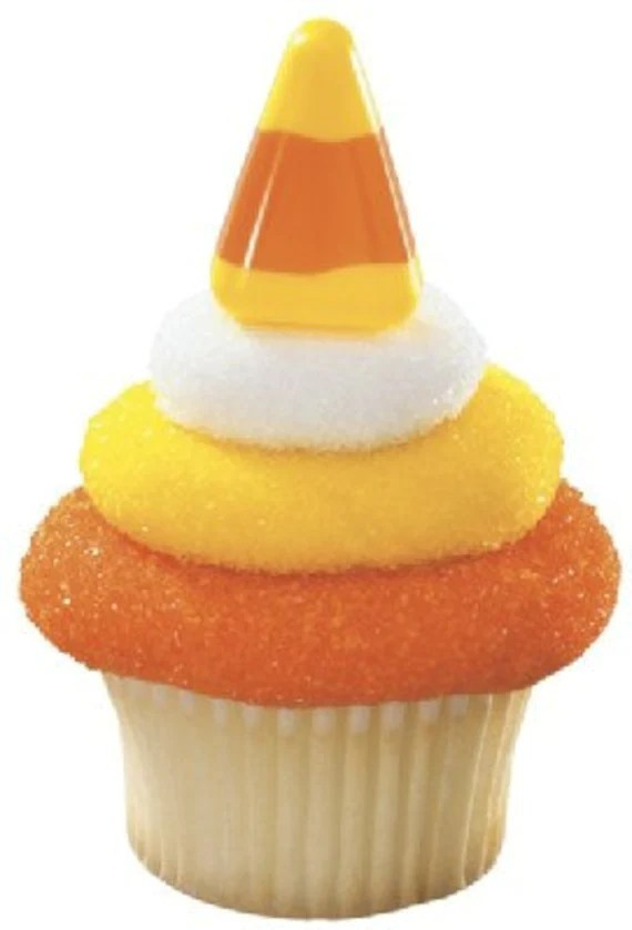 24 Candy Corn Cupcake Topper Picks - Catalu