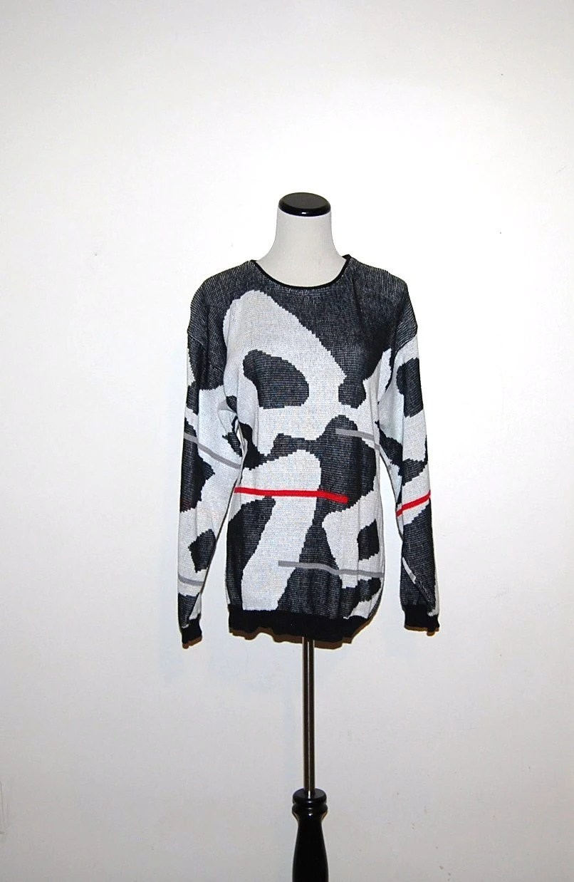 Vintage Sweater Abstract Pandas - ChristmasVintage