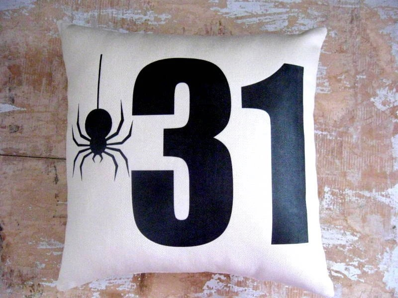Halloween Pillow, Halloween Decor,  Spider, October 31, Silhouette, Pottery Barn, Home Decor, Housewares, Decorative Pillow