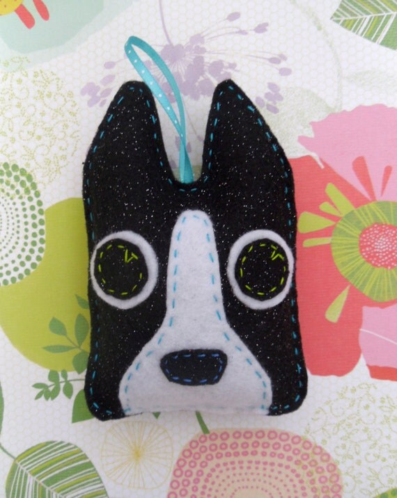 Boston Terrier Ornament, Perry